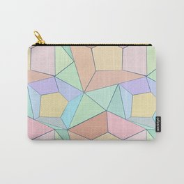 Polygonal multi-color pattern. Carry-All Pouch