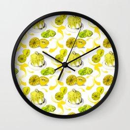 Zesty Lemons - Lark Illustration Wall Clock