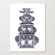 robo totem 1 Canvas Print