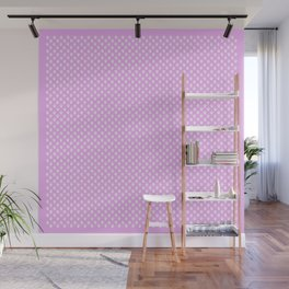 Tiny Paw Prints Pretty Pink Pattern Wall Mural