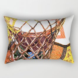Basketball Hoop on Baskeball Art Rectangular Pillow