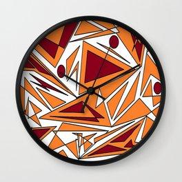 abstract orange geometrie Wall Clock