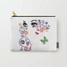 Purple summer eyes Carry-All Pouch