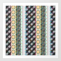 boho Art Prints featuring Boho by Designed by Debby
