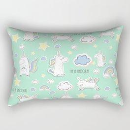 I'm a unicorn - green Rectangular Pillow