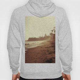 Vintage Retro Sepia Toned Coastal Beach Print Hoody