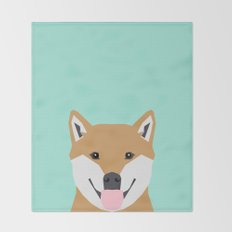 Cassidy - Shiba Inu gifts for dog lovers and cute Shiba Inu phone case for Shiba Inu owner gifts Throw Blanket