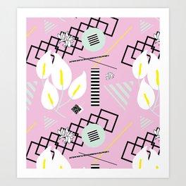 80's Calla Lily Floral Art Print
