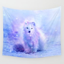 Arctic iceland fox Wall Tapestry