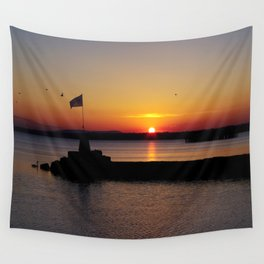 A beautiful sunset view of Lough Neagh Wall Tapestry