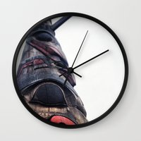 seattle Wall Clocks featuring Seattle  by Carey Lee Designs