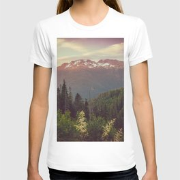 Mountain Sunset Bliss - Nature Photography T-shirt