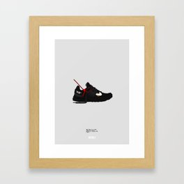 "Off White c/o ""Air Presto"" Black Colourway Framed Art Print"