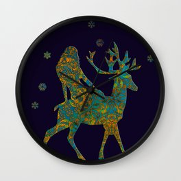 merry christmas 1 Wall Clock