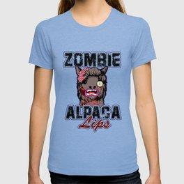Zombie Alpaca Lips Halloween Pun Llama Alpacalypse Light T-shirt