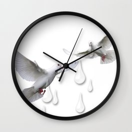 Can you hear the doves crying Wall Clock