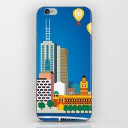 Melbourne, Australia - Skyline Illustration by Loose Petals iPhone Skin