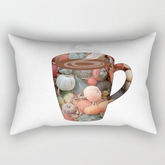 pumpkin spice tall mug - coffee cup series Rectangular Pillow
