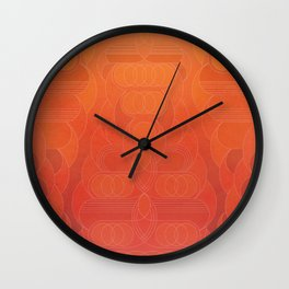 Round and About Coral Wall Clock