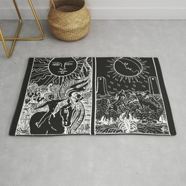 The Sun and Moon Tarot Cards | Obsidian & Pearl Rug
