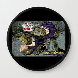 American Bullfrog- Choral Aggression Wall Clock