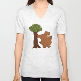 Bear and Madrono Unisex V-Neck