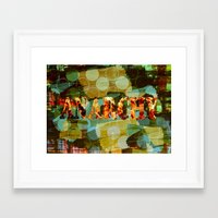 anarchy Framed Art Prints featuring anarchy by laika in cosmos