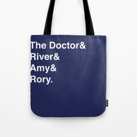 doctor Tote Bags featuring Doctor& by Dweezle