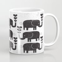elephants Mugs featuring ELEPHANTS by Matthew Taylor Wilson