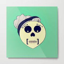 Day of the Dead Pin-up Metal Print