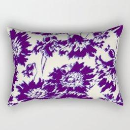 poppy in cobalt blue Rectangular Pillow
