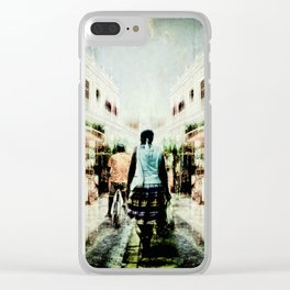 Cuba Street Stroll Clear iPhone Case