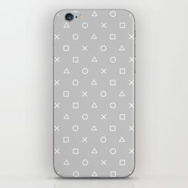 Grey Gamer iPhone Skin