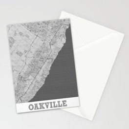 Oakville Pencil City Map Stationery Cards