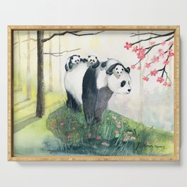 Panda family Serving Tray