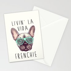 French bulldog - Livin' la vida Frenchie Stationery Cards