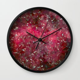 Pink Galaxy Low Poly 31 Wall Clock