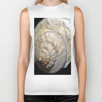 shell Biker Tanks featuring Shell by Brian Raggatt
