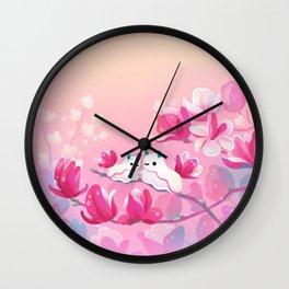 Magnolia sea slug Wall Clock