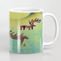 reindeer Mugs featuring reindeer by donphil