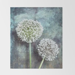 Allium Flowers Throw Blanket