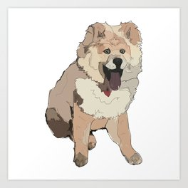 Fluffy Dog Art Print