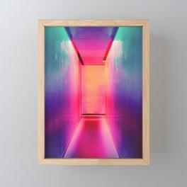 Neon Hallways Framed Mini Art Print