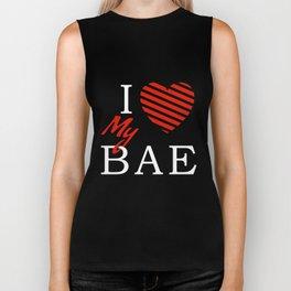 I Love (Heart) My Bae Biker Tank
