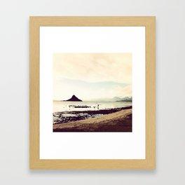 lone fisherman Framed Art Print