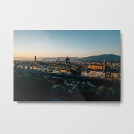 Florence at Dusk Metal Print