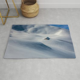 That Old Mountain Home Photographic Winter Landscape Rug