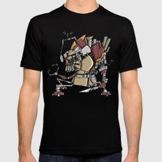 JunkBot Black Mens Fitted Tee MEDIUM