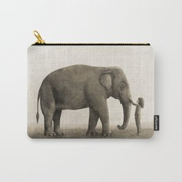 One Amazing Elephant - sepia option Carry-All Pouch