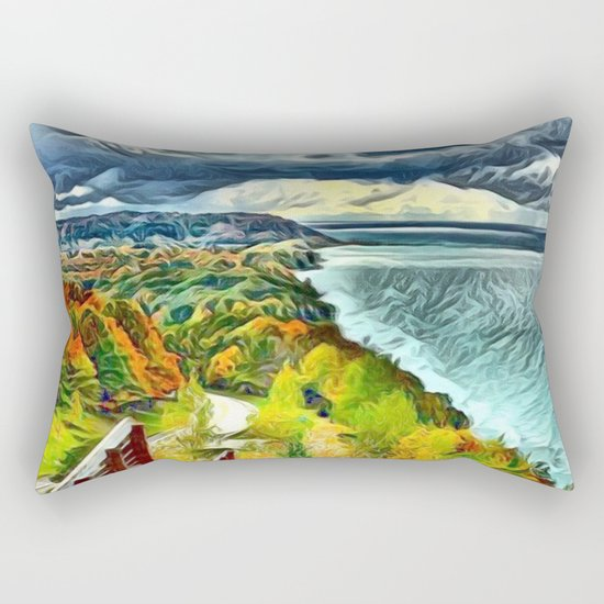 Stairs to Paradise (Water and Landscape) Rectangular Pillow